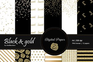Black and gold | pattern