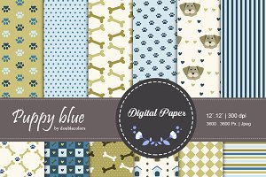Puppy blue | pattern