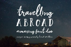 Travelling Abroad Font Duo