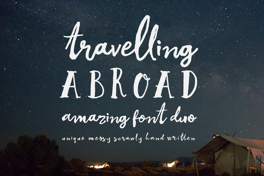 Best Travelling Abroad Font Duo Vector