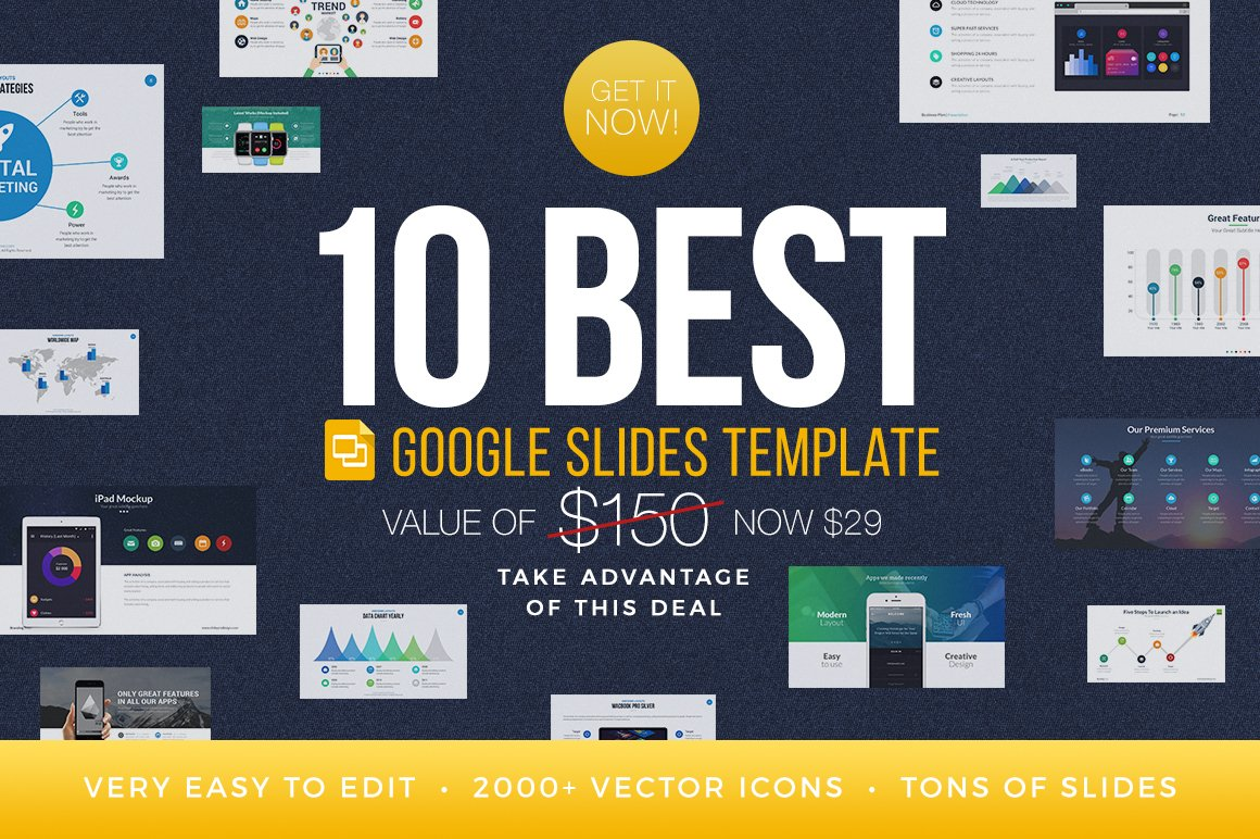best google slides templates bundle presentation templates