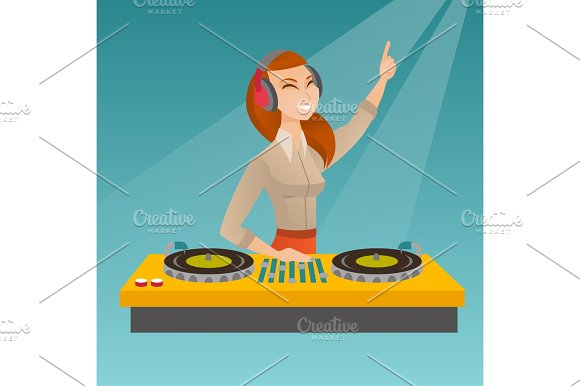 DJ Mixing Music On The Turntables