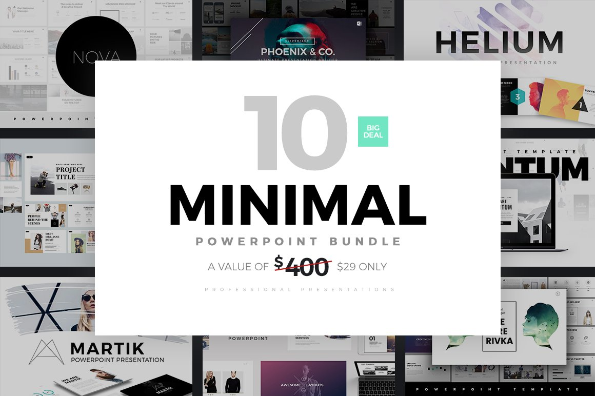 50 powerpoint ideas to inspire your next presentation creative minimal powerpoint templates bundle toneelgroepblik Gallery