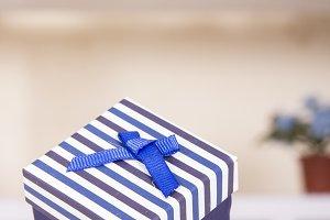 Jewel box on table