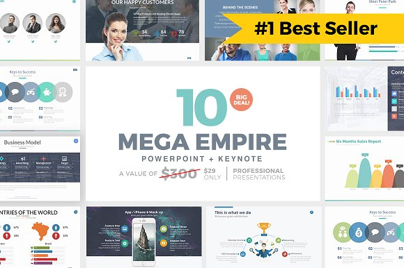 16 powerpoint templates that look great in 2018 creative market blog 2 mega empire powerpoint bundle toneelgroepblik Gallery