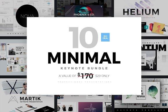 minimal keynote bundle template presentation templates creative market. Black Bedroom Furniture Sets. Home Design Ideas