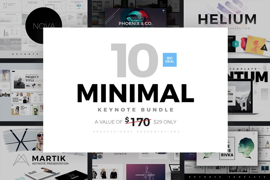 Minimal Keynote Bundle Template ~ Keynote Templates