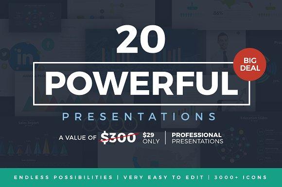 20 powerful presentations bundle presentation templates creative