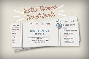 Sports Themed Ticket Invitation
