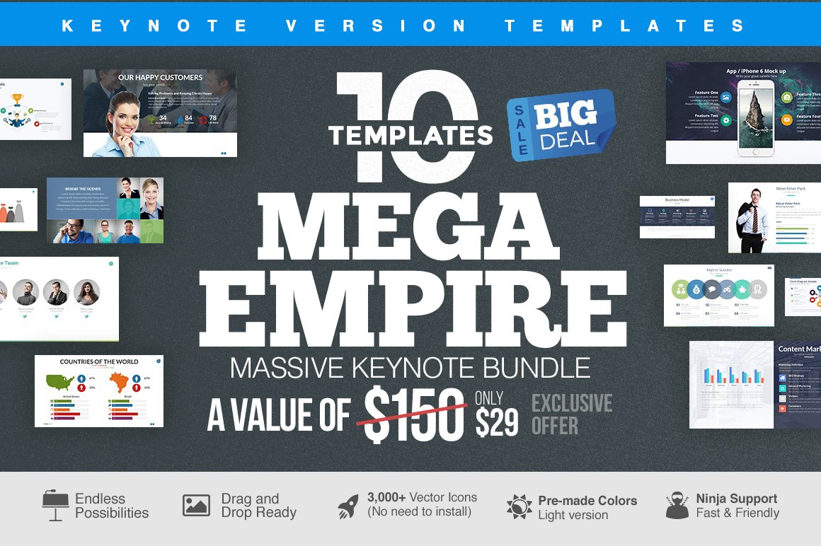 MEGA EMPIRE Keynote Bundle ~ Keynote Templates ~ Creative Market