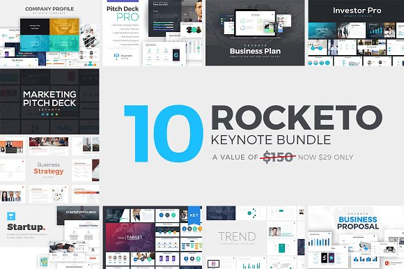 Rocketo Keynote Templates Bundle Presentation Templates - Keynote business plan template