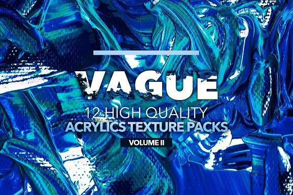 Vague II: 12 Acrylics Textures in Textures