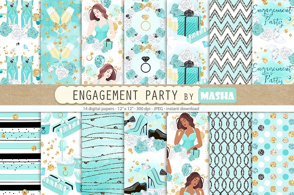 ENGAGEMENT PARTY Digital Papers