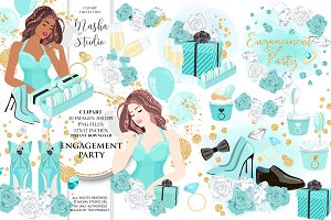 ENGAGEMENT PARTY clipart
