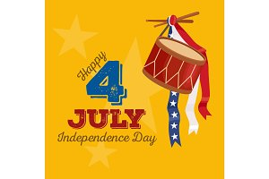 Happy fourth of july, Independence Day Vector Design illustraion