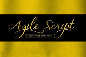 Agile Script Typeface
