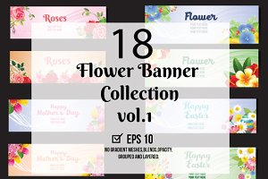 18 Floral Horizontal Floral Banner