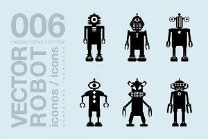 robots flat icons 004