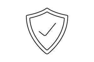 Security check linear icon