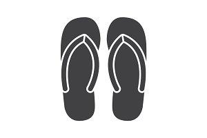 Flip flops glyph icon