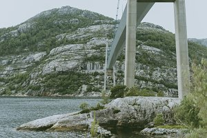 Large Bridge over a Fjord in Norway