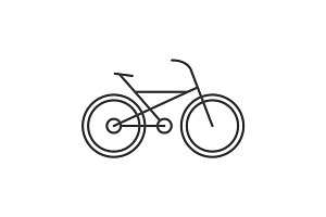Bike linear icon