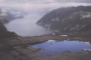 View over beautiful Fjord in Norway