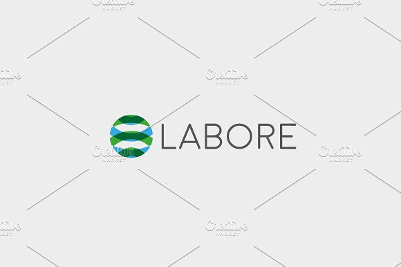 Abstract Sphere Logotype Color Round Vector Logo