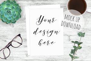 Stylish Card Mockup Photography