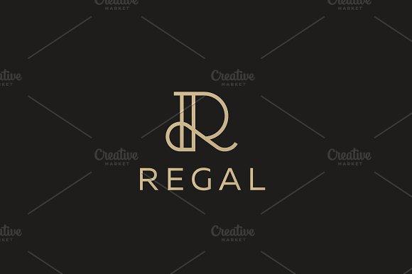 Elegant Line Curve Vector Logotype Premium Letter R Logo Design