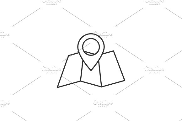 Folded Map Outline Icon