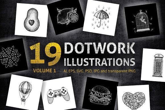 Dotwork Illustrations Volume 1