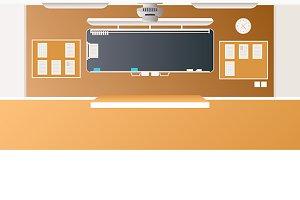 Middle school classroom interior