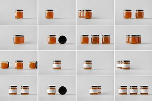 Apricot Jam Jar Mock-Up Photo Bundle