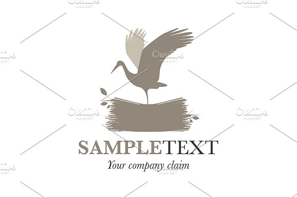 Stork On A Nest Logo