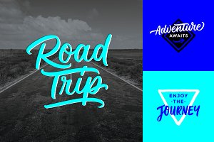 Road Trip Lettering Overlays