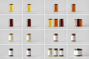 Honey Jar Mock-Up Stock Photo Bundle