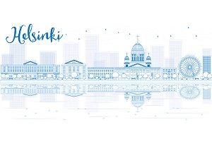 Outline Helsinki skyline