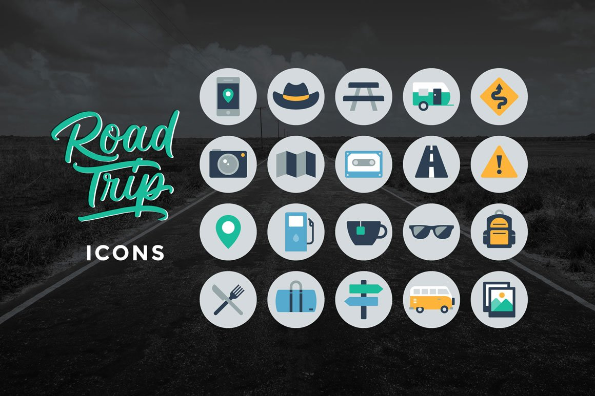 Road Trip Icons ~ Icons ~ Creative Market