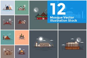 Mosque Illustration Vector Stock