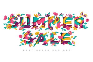 Summer Sale typography design