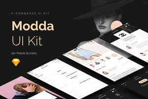 Modda -Mobile UI Kit for Sketch