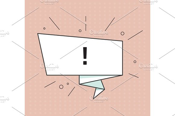Attention Or Warning Banner Retro Comic Style Vector Illustration Vintage Bubble On The Red Background