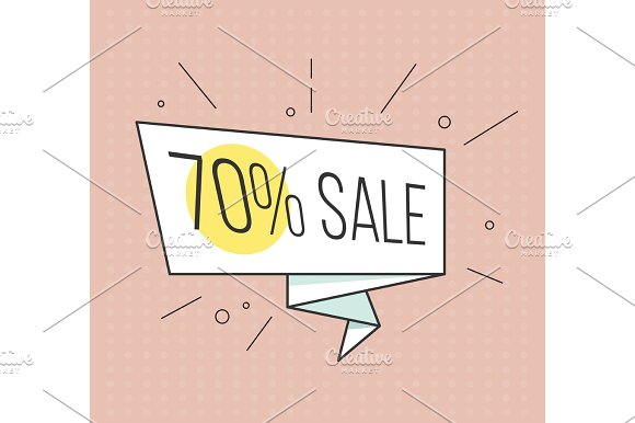 Big Sale Banner Retro Comic Style Vector Illustration Vintage Bubble On The Red Background