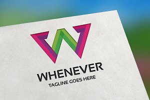 Whenever (Letter W) Logo