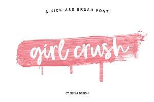 Bold brush font, Girl Crush