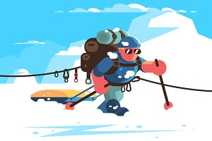 Man alpinist character