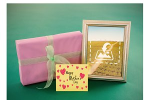 Framed picture Mothers day mockup