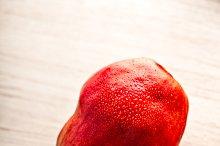 Fresh juicy red pears
