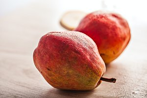 Fresh juicy red pears